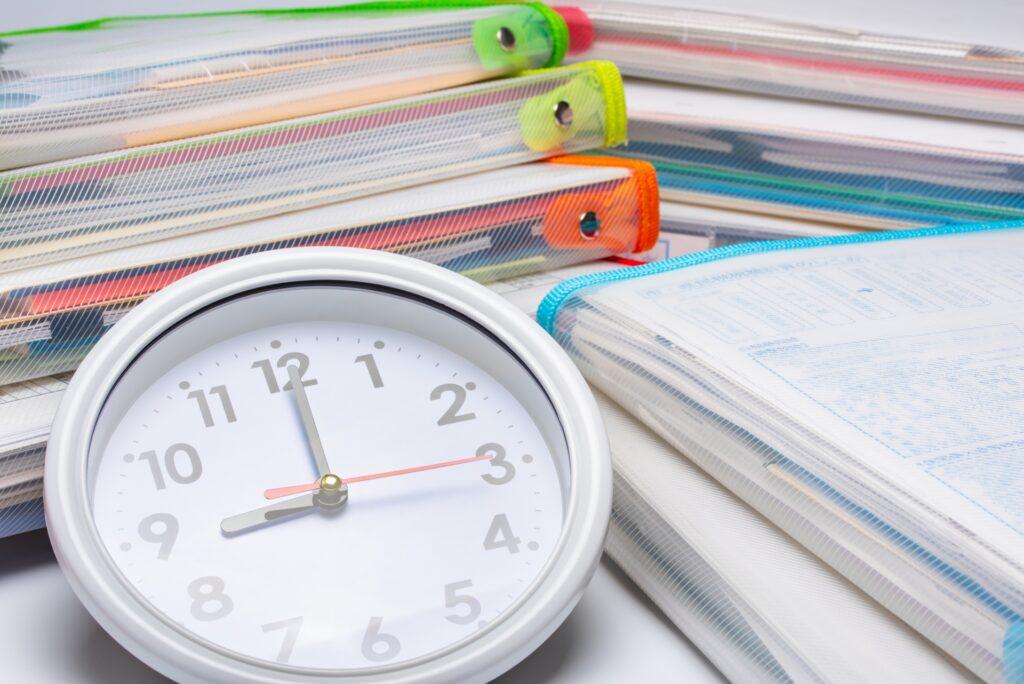 宿題 時間の使い方